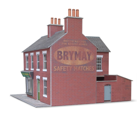 Brymay ghost sign in situ on Metcalfe corner shop. Press quality (300dpi) with transparent background.\\n\\n30/04/2014 12:08